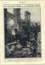 1916 Ugo Matania Searching For German Sniper In Ruins Of A Farmhouse