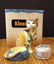 Kleo Kats Cat tealight holder and tealight NIB Kandlekat retired