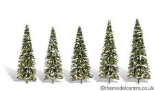 "TR3567 Woodland Scenics Snow Dusted 5 Pack 2"" - 3 1/2"" Ready Made Trees TMC"