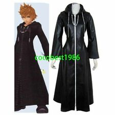 Kingdom Hearts Organization XIII Roxas Halloween Cosplay Costume Coat necklace