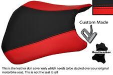 Negro Y Rojo Custom encaja Honda Cbr 600 Rr Rr5 rr6 05-06 Frontal De Cuero Funda De Asiento