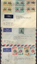 JORDAN-PALESTINE 1960's SIX AIR MAIL COVERS TWO ARE REGISTERED 5 FROM JERUSALEM
