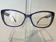 BCBG Maxazria Odeya Women's Plastic Eyeglass Frame -Blue Laminate 53-14 w/Case!