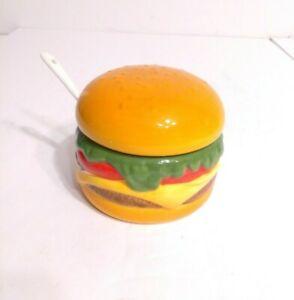 Boston Warehouse Cheeseburger Mayonnaise Relish Mustard dish.