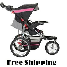 Baby Jogger Stroller All Terrain Running Jogging 3 Wheel Lightweight Black Pink