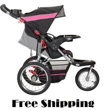 Baby Jogger Stroller All Terrain Running Jogging 3 Wheel Lightweight Black Pink