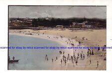 COOGEE BEACH c.1900's Beach TRAM, SHED  buildings BATHERS Sydney NSW AUSTRALIA