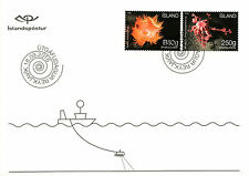 Iceland 2016 FDC Seabed Ecosystem 2v S/A Cover Sea Anemones Basket Star Stamps