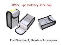 3pcs DJI Phantom 4 pro and Phantom 4 PRO+ V2.0 Phantom 3 Lipo Battery Bag