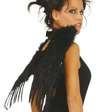 FEATHER WINGS 50CM BLACK Adult size PARTY