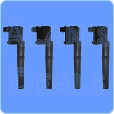 Premium High Voltage Output Ignition Coil Set (4) For Mustang Lincoln Mercury