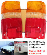 TAIL REAR LIGHT LAMP LEN 4 SCREW FOR TOYOTA HILUX MK3 LN RN PICKUP 89 90 91-97