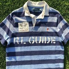 Polo Ralph Lauren Striped C1 RL Guide Rafting Canoe Paddle Custom Fit Shirt L