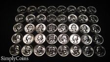 (40) 1955-D Washington Quarter Roll ~ BU Uncirculated ~ 90% Silver US Coin Lot
