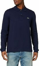 Lacoste Mens Shirt Navy Blue Size XL Classic Fit Long Sleeve Polo $99 300