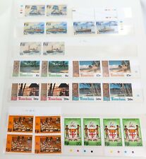 VINTAGE FIJI & NORFOLK ISLANDS STAMPS. USED, MINT, SINGLES, BLOCKS & STRIPS.