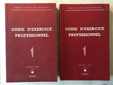 GUIDE D'EXERCICE PROFESSIONNEL 1986 2 VOL ORDRE NATIONALE MEDECINS