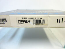 """New Tiffen 6.6x6.6"""" Glass Coral 5 Solid Color Filter 6666Co5"""