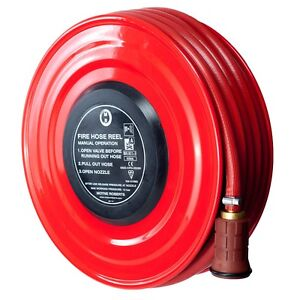 NEW FIXED MANUAL FIRE HOSE REEL - 19mm