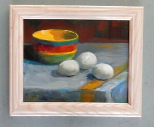 Egg Site ing-  original oil painting by Patricia Kness