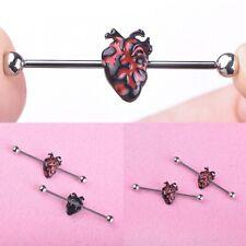 Design Surgical Steel Industrial Bar Scaffold Ear Barbell Key Body Piercing Gift