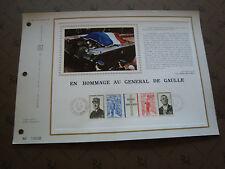 FRANCE - document CEF 1er jour 9/11/1971 (general de gaulle) french