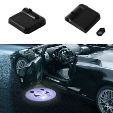 2Pcs Funny Wireless Auto Car Door LED Laser Lights Projector Logo Ghost Shadow--