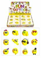 Childrens Happy Emoji Smiley Face Temporary Tattoos Transfers Toys