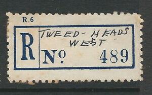 Registration Labels Australia NSW Tweed Heads West #489 PO open 1953 closed 1976