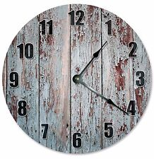 "RUSTIC OLD WOOD Clock - Large 10.5"" Wall Clock - 2286"