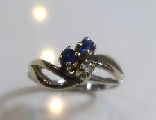 Echte Diamanten-Ringe mit Saphir für Damen
