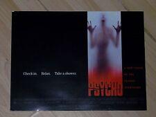 Raro Psycho Original 30x40CM Cine Pelicula Peli cartel 1998