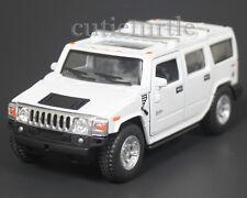 Kinsmart 2008 Hummer H2 SUV 1:40 Diecast Toy Car White