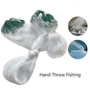 Green Clear White Fishing Net With Float Fish Trap Mesh Gill I4D8 L7W1