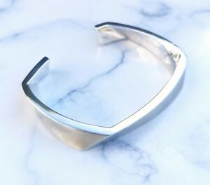 Genuine Tiffany & Co Mens Sterling Silver Torque Bangle Bracelet by Frank Gehry