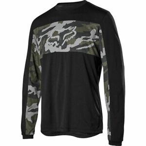 Fox Racing Ranger Dri-Release Fox Head Long Sleeve L/S Jersey Green Camo