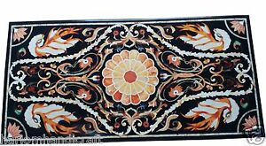 4'x2' Marble Dining Table Top Pietradure Mosaic Inlaid Collectible Decor H1515