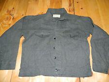 1950's Era Black Chambray Men's Work Jacket  Size 44 Used/ Good Condition