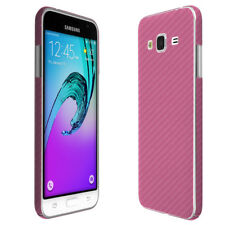 Skinomi Pink Carbon Fiber Skin & Screen Protector for Samsung Galaxy J3