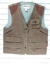Eddie Bauer Safari Field Vest Fishing Photography 100% Cotton Vest Size S/P
