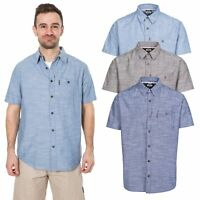 Trespass Slapton Mens Short Sleeve Smart Casual Shirt Summer Top With Buttons