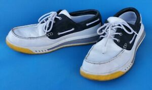 TIMBERLAND shoes men size 10 Navy / White / Yellow casual boat sailing