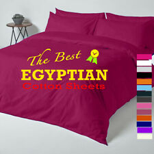 New 100% Egyptian Cotton Flat Sheet Bed Sheets 200T Single Double King SuperKing