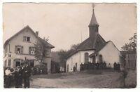 Elzach Oberprechtal ? o.Umgebung, Leute v.Kirche,Schwarzwald Tracht Foto um1910
