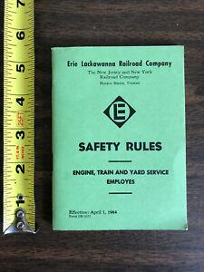 1964 Erie Lackawanna Railroad Company NJ&NY Safety Rules Engine Train Employees