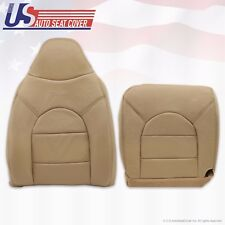 1999 Ford F250 350 Lariat Front Driver Side Top & Bottom Leather seat Covers Tan