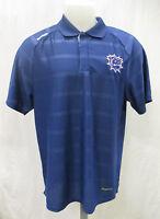Hamilton Bulldogs L XL Reebok Play Dry Blue Polo Shirt AHL Montreal Canadiens