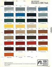 1982 AND 1983 CHEVROLET AND GMC TRUCK AND VAN PAINT CHIPS R-M