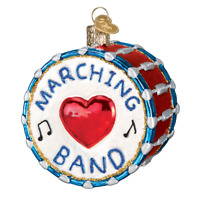 """Marching Band"" (38052)X Old World Christmas Glass Ornament w/ OWC Box"