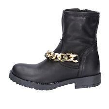 scarpe bambina HOLALA 38 EU stivaletti nero pelle AC34-N